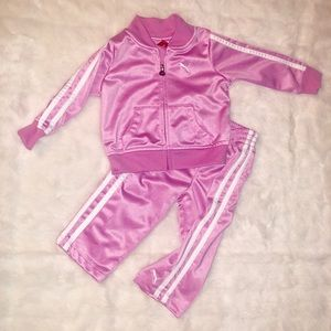 12 mo ADIDAS  girls set pink